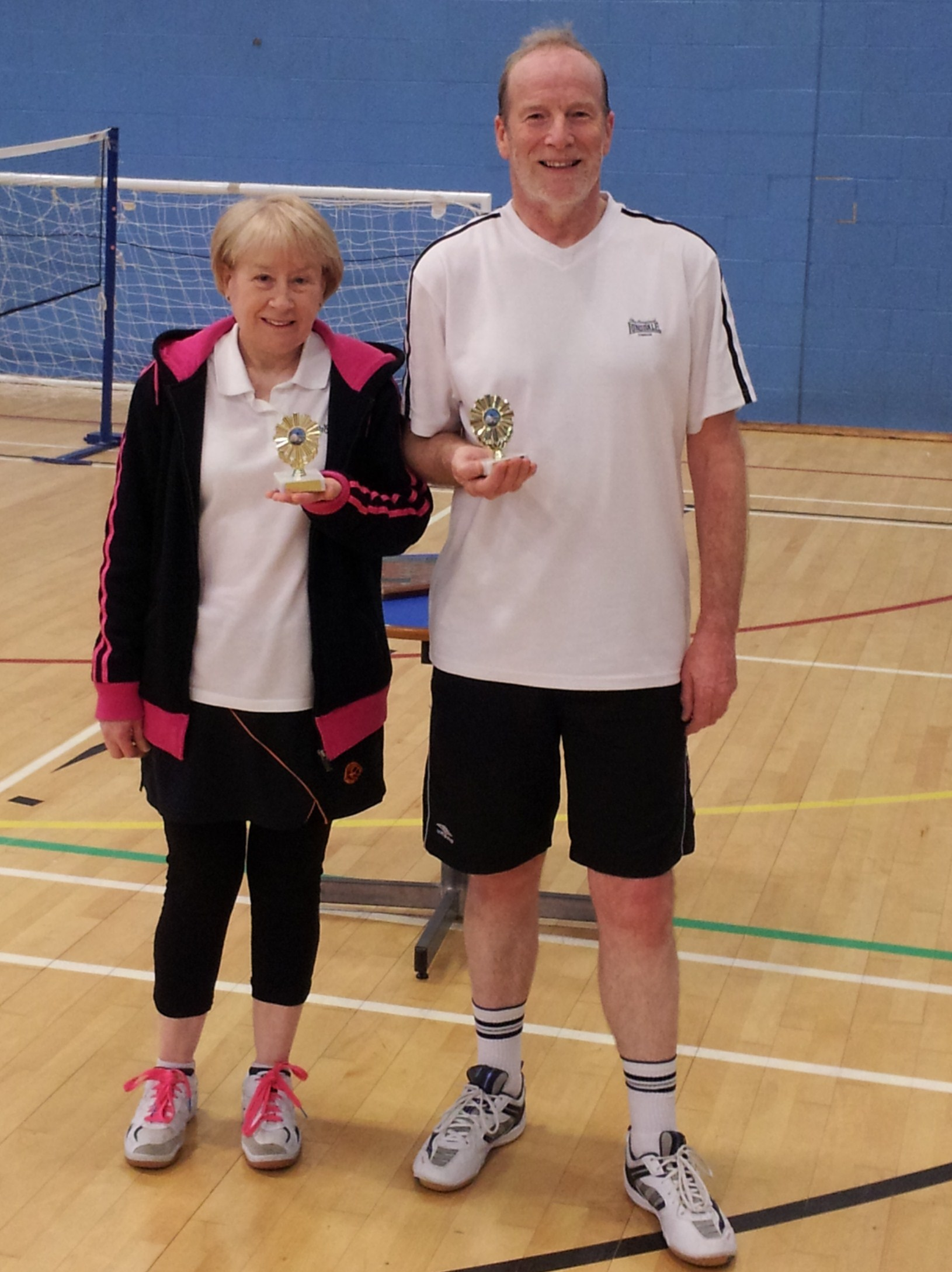Handicap Tournament Veterans Mixed Doubles Runners Up