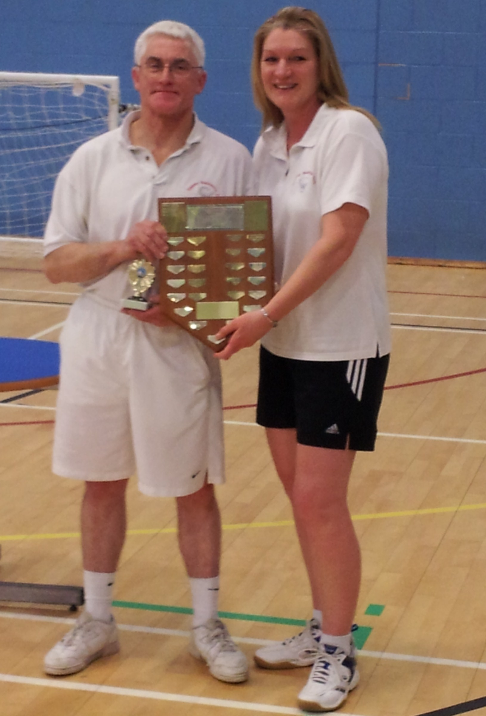 Handicap Tournament Veterans Mixed Doubles Winners